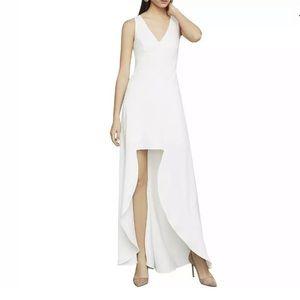 NWT BCBGMaxazria Ivory Sleeveless High Low Dress